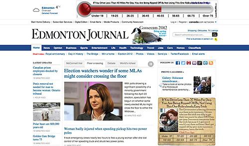 Cinecoup teams in the Edmonton Journal