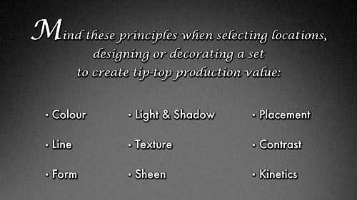 The Principles of Production Design
