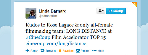 Linda Barnard of the Toronto Star tweets support