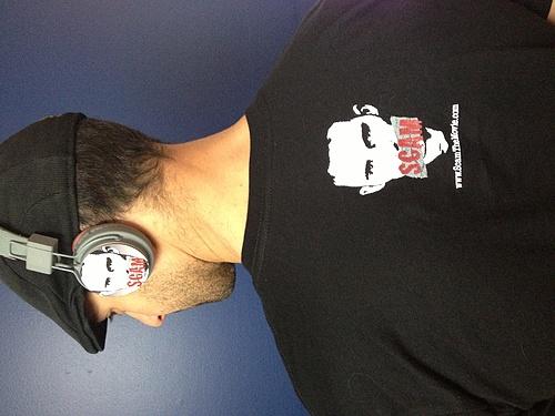 Matching headphones and T-Shirt