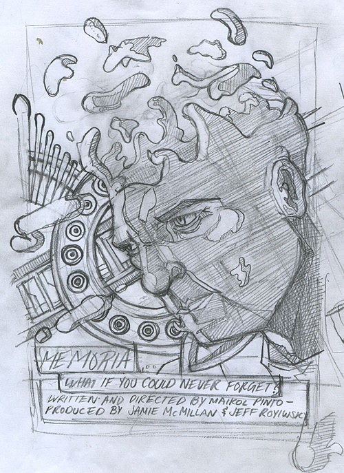 Jeff R. rough sketch for Poster 2 design.
