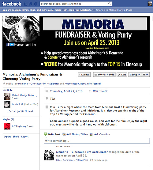 Memoria's Alzheimer's Fundraiser and Voting Party