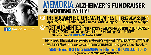 Memoria Fundraiser and Screening at ACFF