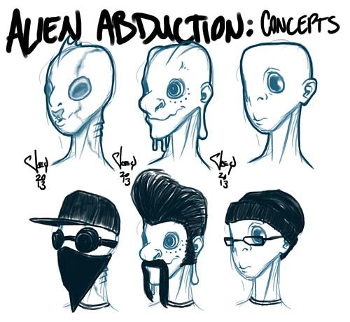Alien Abduction Concept Designs by Joey McIntosh