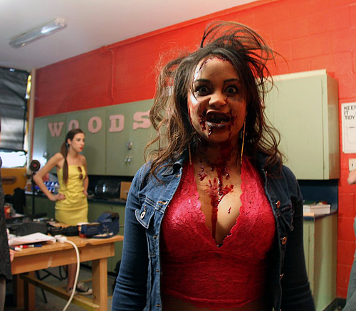 Behind the scenes with Chantel our Zombie