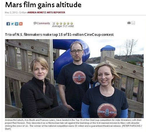 Chronicle Herald Features Red Horizon Team