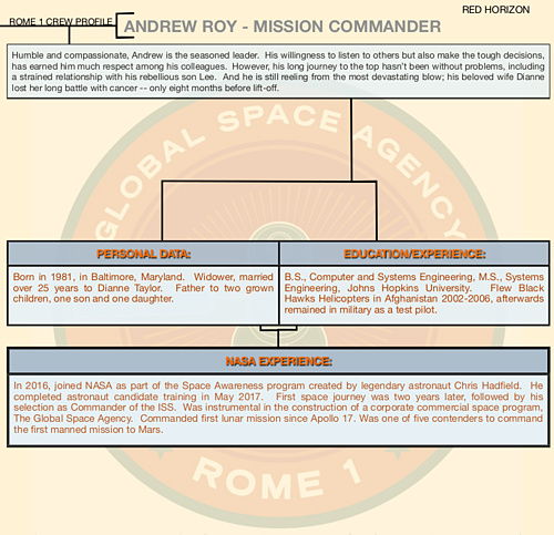 Mission Commander Andrew Roy