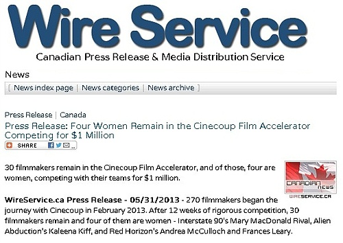 Four Women Remain in Cinecoup Competing for $1mil