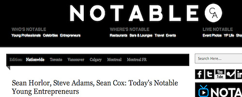 Notable.ca - Today's Notable Young Entrepreneurs