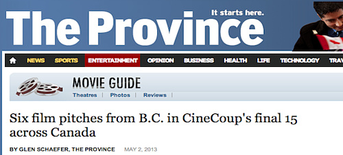 The Province - Six film pitches from B.C.