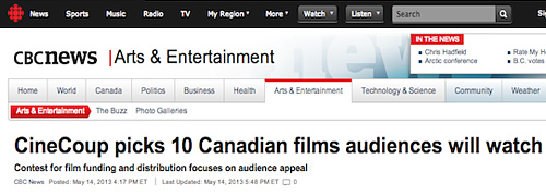 CBC News - CineCoup picks 10 Canadian film