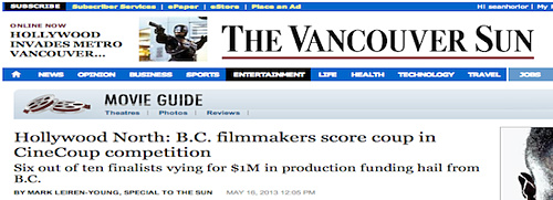Vancouver Sun - B.C. filmmakers score in CineCoup