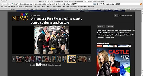 CTV News War Paint Photo from Fan Expo